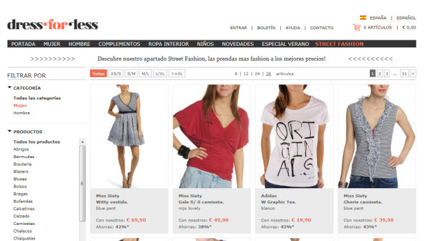 Rebajas Dress-for-less seccion street fashion