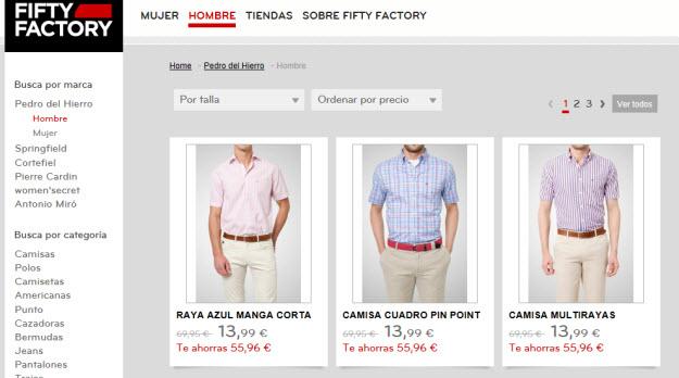 Fifty Factory y sus articulos Pedro del Hierro