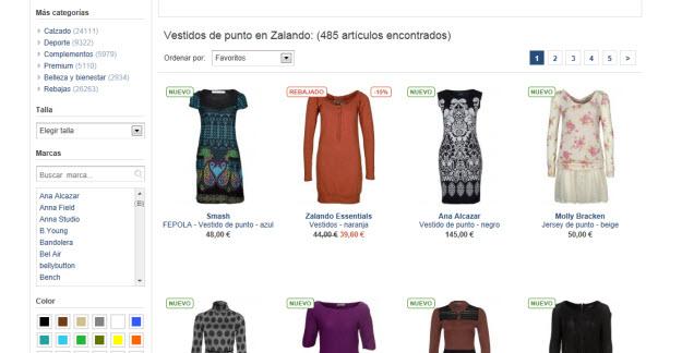 Rebajas en vestidos de marca de Zalando