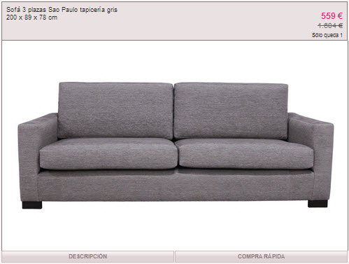 Rebajas ka international muebles a precios asequibles en - Ka internacional sofas ...