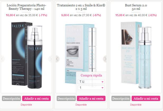 productos cosmeticos talika