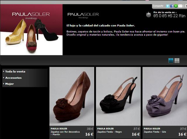 7167fbfb Rebajas Paula Soler: calzado de calidad al -70% en Private Outlet -