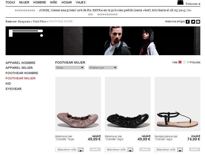Rebajas Pirelli: calzado y mucho más al -70% en Privalia