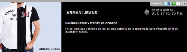 rebajas armani jeans