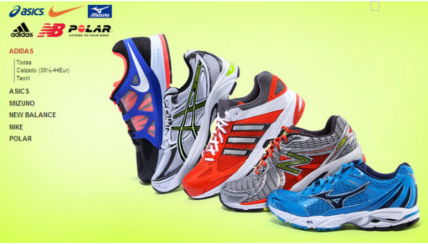 rebajas de zapatillas de running