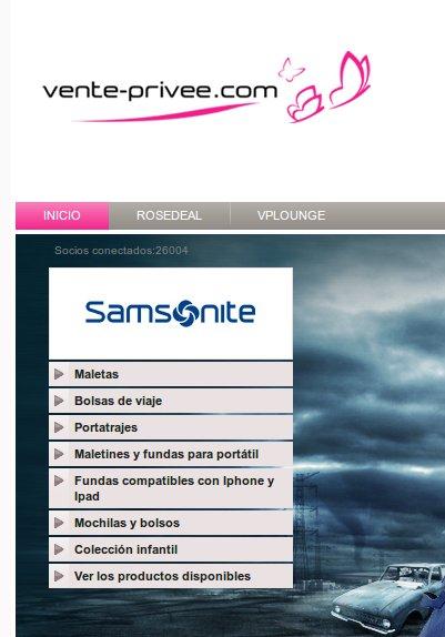 rebajas Samsonite