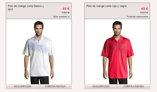 rebajas de ropa de golf