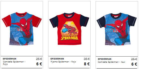 camisetas spiderman