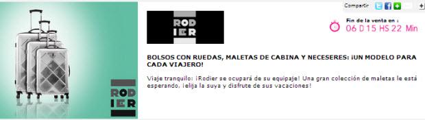 Rebajas Rodier encuentra tus maletas con los mejores precios