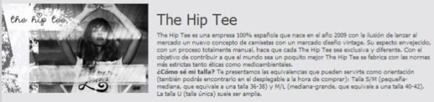 rebajas the hip tee