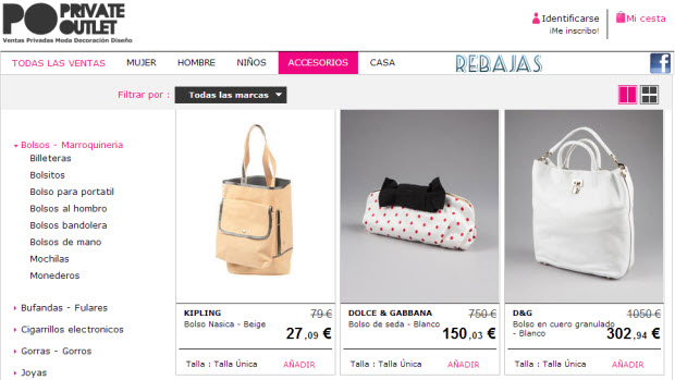 bolsos private outlet