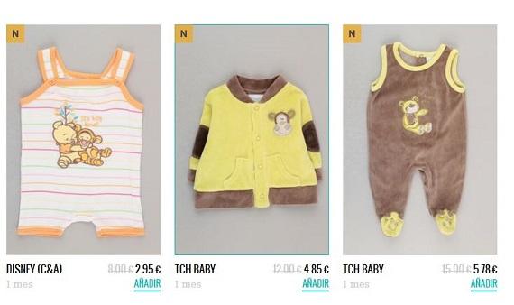Percentil ropa bebé