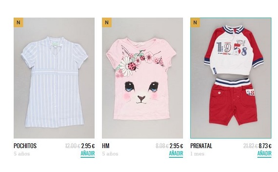 Percentil ropa segunda mano