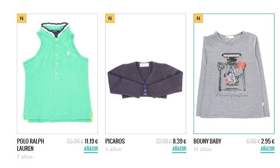 Percentil ropa