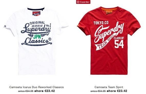 superdry camisetas
