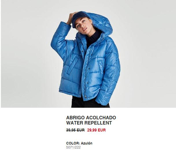 rebajas abrigos Zara 2018