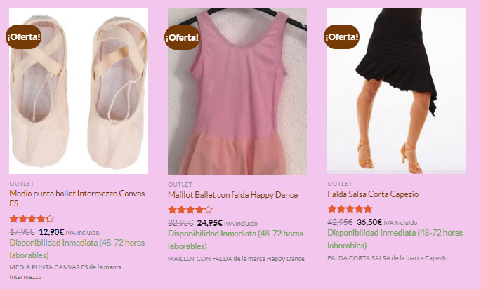 rebajas ropa de ballet